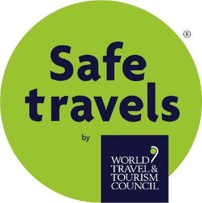 World Travel & Tourism Council (WTTC) international 'Safe Travels' stamp.